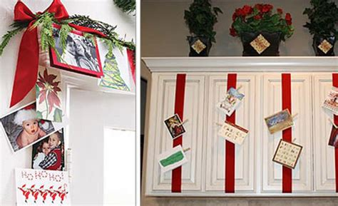 how to display christmas cards 15 pretty displays for christmas pictures cards tip junkie