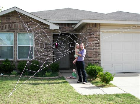 web house 25 ft giant spider web halloween house prop
