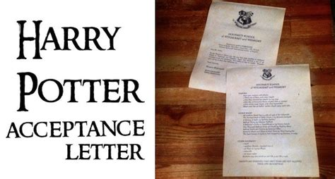 Harry Potter Acceptance Letter Tutorial 1000 Ideas About Hogwarts Letter Template On Hogwarts Letter Harry Potter Gifts