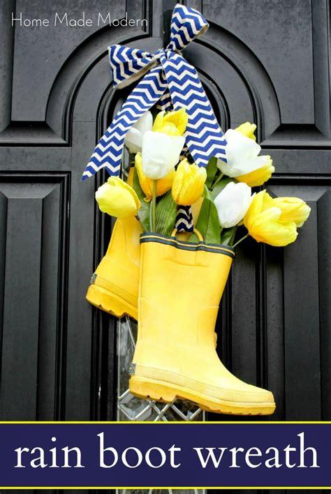 rain boots  front door