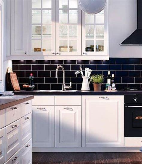 black subway tiles except i d do them in blue lov with the white cabinets id do navy