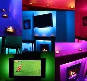 led mood lighting ideas tv back lights colour changing ebay