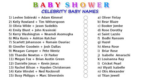 Baby Shower Baby Names by 10 Printable Baby Shower Your Guests Will Surely Enjoy