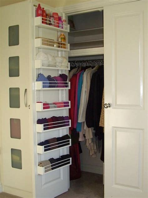 door closet organizer 20 clever closet tips tricks the chic site