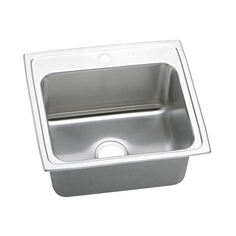 elkay stainless kitchen sink elkay lustertone drop in stainless steel 22 in 1