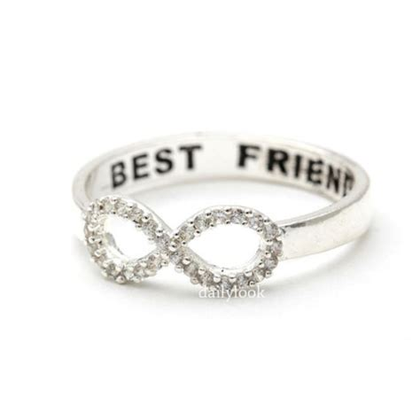 infinity ring best friends jewels jewelry infinity ring ring engraved ring best