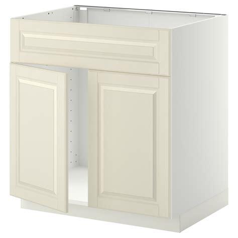 ikea sink cabinet kitchen metod base cabinet f sink w 2 doors front white bodbyn white 80x60 cm ikea