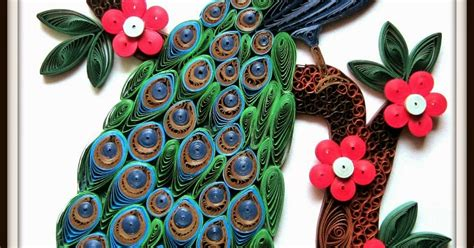How To Make Paper Quilling Peacock - daydreams quilled peacock