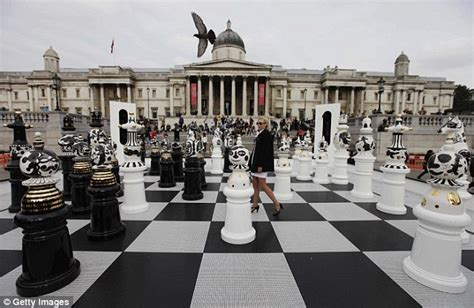 Cool Chess Sets check this giant chess board unveiled in trafalgar square