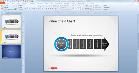 Free Value Chain Chart Template For Powerpoint Free Value Chain Ppt Template