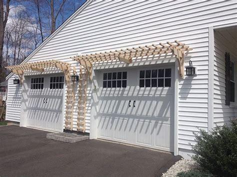 Trellis Over Garage Doors Adds Great Curb Appeal Trellis Garage Door