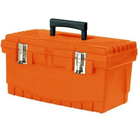 home depot tool box the home depot 19 in plastic tool box with metal latches