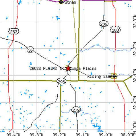 crossroads texas map cross plains texas tx population data races housing economy