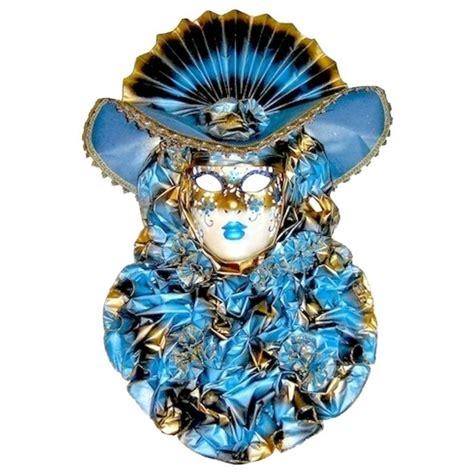 Handmade Venetian Masks - italian modern venetian carnival handmade blue mask with