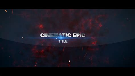 Cinematic Epic Title Fire After Effects Templates F5 Design Com Cinematic Title After Effects Template