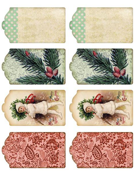 vintage christmas gift tags printable free tages bookmark on pinterest card making vintage tags