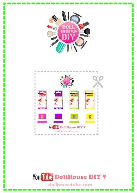 miniature and dollhouse plantillas miniature cosmetics tutorials dollhouse diy