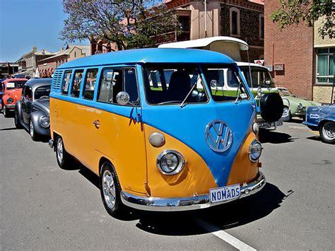orange volkswagen van vw kombi van