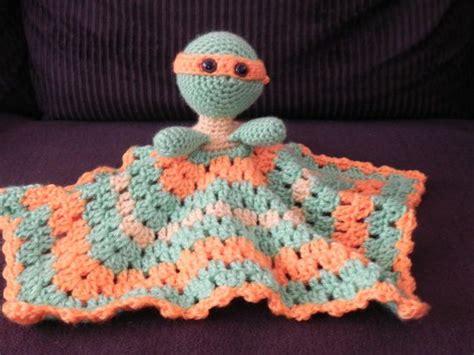 crochet pattern ninja turtle blanket ninja turtle crocheted lovey michelangelo baby hats