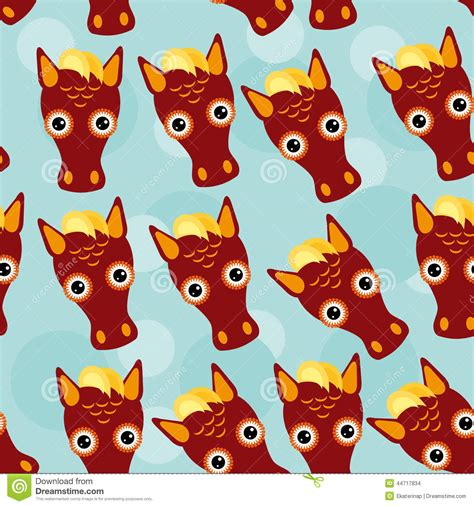 cute baby pattern stock vector image of horse collection horse seamless pattern with funny cute animal face on a
