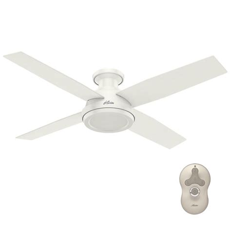 hton bay hugger 52 in white ceiling fan with light dempsey 52 in low profile no light indoor fresh