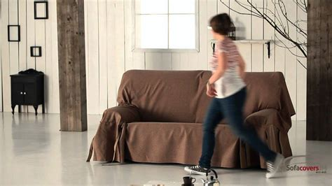 How To Make A Slipcover For A Sleeper Sofa by How To Install A Sofa Cover With Ties