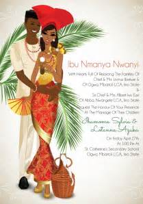 Make Your Own Wedding Place Cards - igba nkwu traditional wedding invitation card