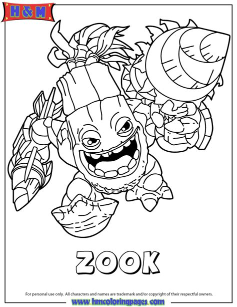 free coloring pages of skylander gi
