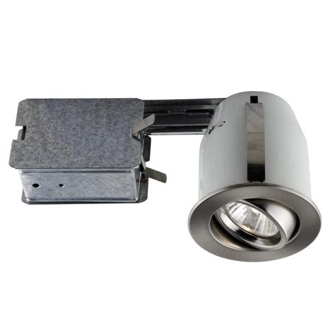 Light Fixture Kit Bazz 300 Series 4 In Brushed Chrome Recessed Halogen Interior Applications Light Fixture Kit