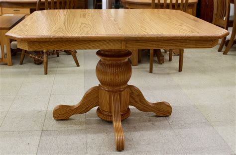Belly Pedestal Table Pot Belly Single Pedestal Table Amish Traditions Wv