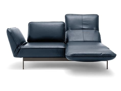 chaise longue leather sofa mera sofa with chaise longue mera collection by rolf