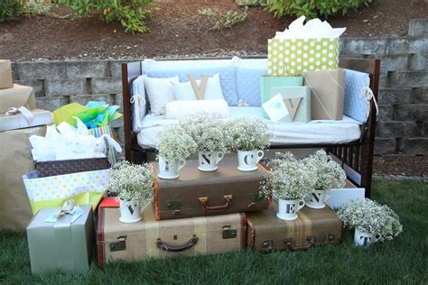 backyard baby shower vintage pretty rustic outdoor baby shower