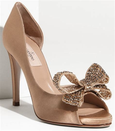 Bridal Shoes With Bow by Wedding Shoes With Bows And Valentino Crystals Ipunya
