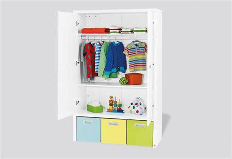 armoire enfant enzo laqu 233 e blanc mat avec box
