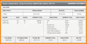 templates for pay stubs 8 canada pay stub template dialysis