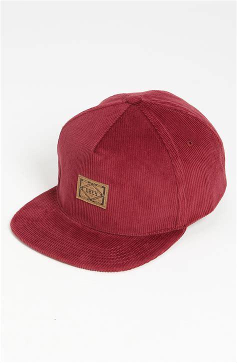Baseball Cap Maroon obey chief snapback baseball cap in for maroon lyst