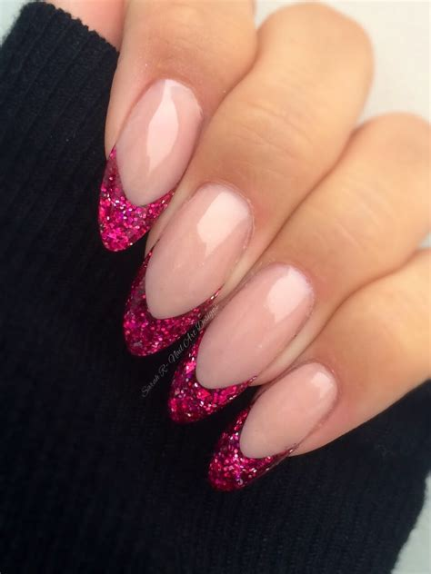 Nail R by Smile Line With Glitter Acrylic Application