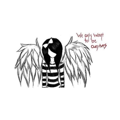 fallen angel tattoo quotes black veil brides tumblr found on polyvore