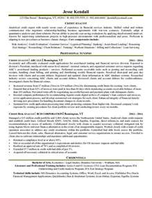 Resume Format Credit Manager Credit Analyst Resume