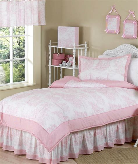 french toile bedding pink french toile and gingham girls bedding set by sweet