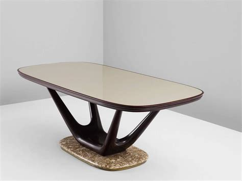 Marble And Glass Dining Table Italian Dining Table In Marble Glass And Mahogany For Sale At 1stdibs