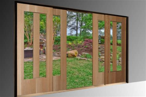 Wooden Sliding Patio Doors Sliding Patio Doors Non Warping Patented Honeycomb Panels And Door Cores