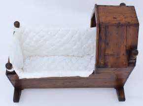 victorian pine baby rocking crib  moses basket