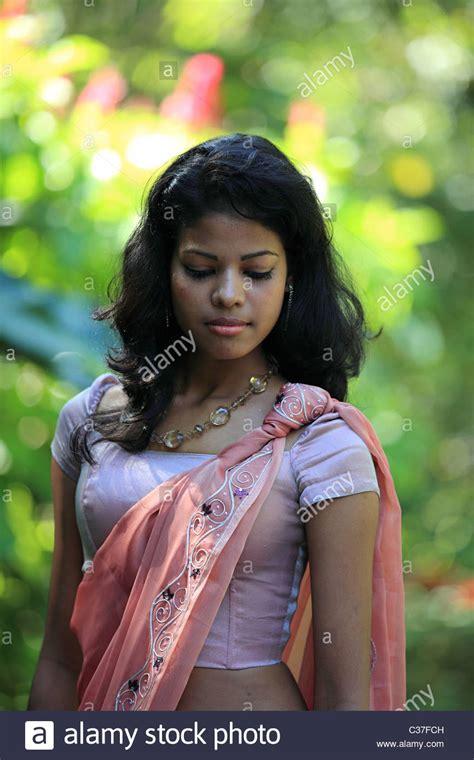 sri lanka hair women s forum sri lankan lady posing in a garden sri lanka asia stock
