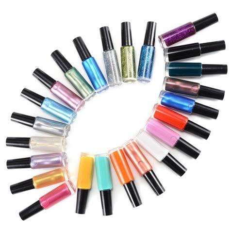 easy nail art with thin brush 12 24 36 48 color nail art polish varnish painting pen