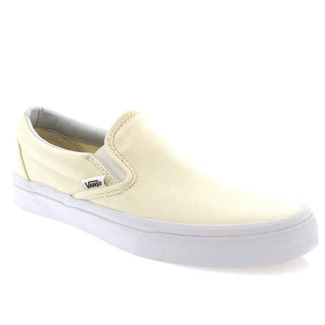 womens vans classic slip canvas slip on casual plimsolls