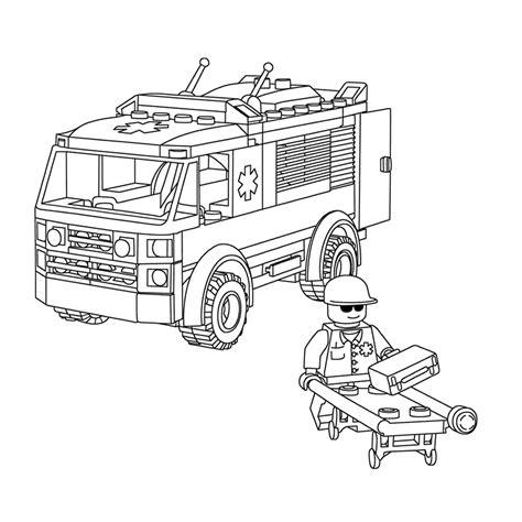 lego ambulance coloring pages leuk voor kids kleurplaat lego city ambulance lego