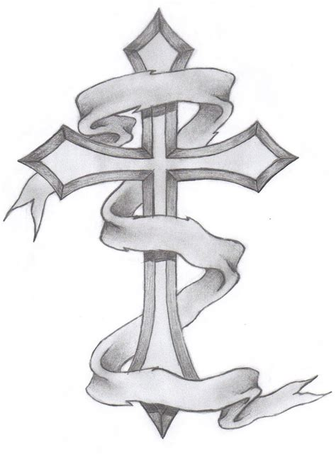 cross with ribbon tattoo cross tattoos designs ideas and meaning tattoos for you