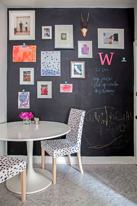 chalkboard kitchen wall ideas amazingly easy diy chalk board walls for your