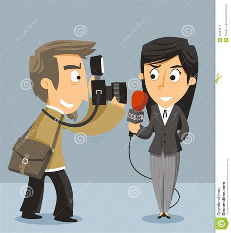 The Reporter journalist news reporter stock illustration image of